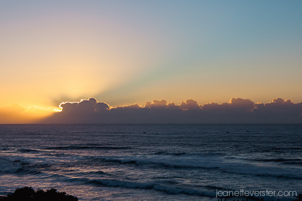 Sunrise over Shelly Beach